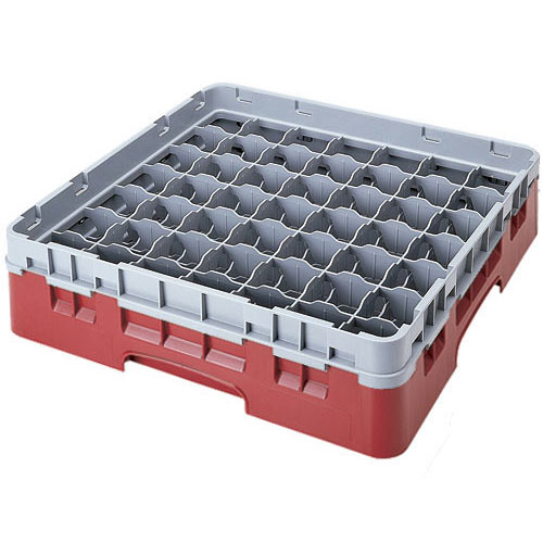 "Cambro Full Size Camrack Glass Rack - 49 Compartment - 3 5/8"" H 49S318"