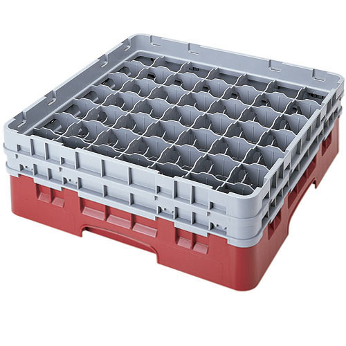 "Cambro Full Size Camrack Glass Rack - 49 Compartment - 5 1/4"" H 49S434"