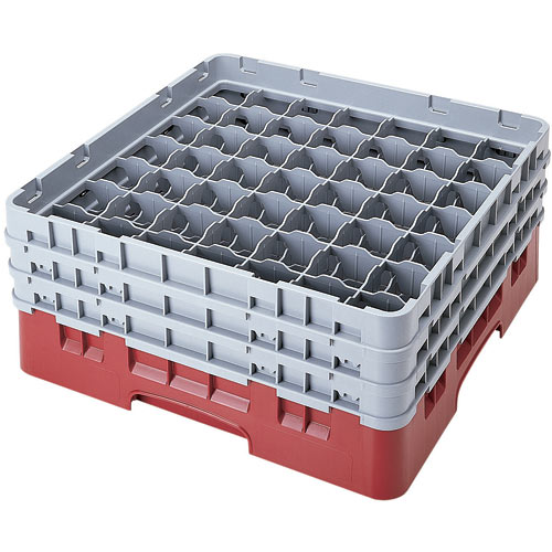 "Cambro Full Size Camrack Glass Rack - 49 Compartment - 6 7/8"" H 49S638"