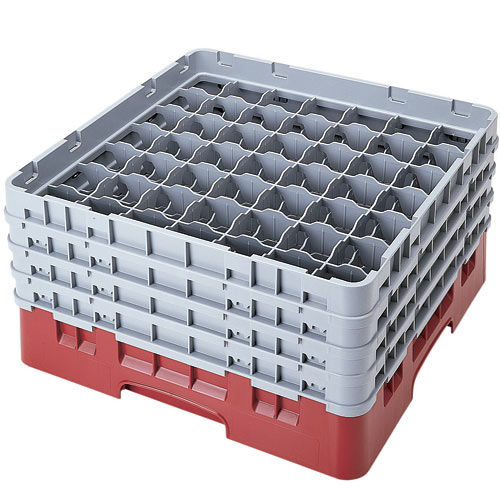 "Cambro Full Size Camrack Glass Rack - 49 Compartment - 8 1/2"" H 49S800"