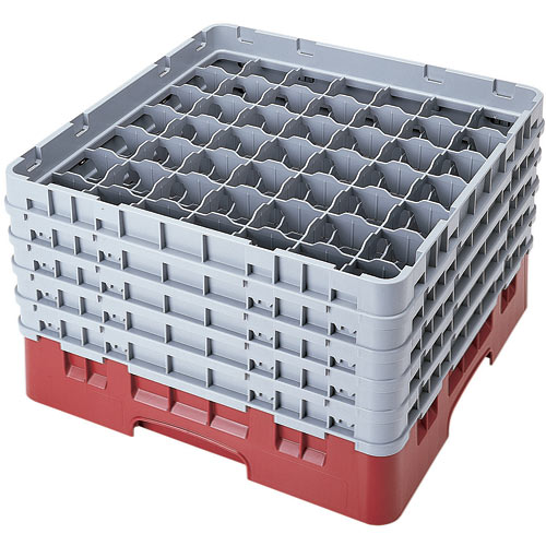"Cambro Full Size Camrack Glass Rack - 49 Compartment - 10 1/8"" H 49S958"