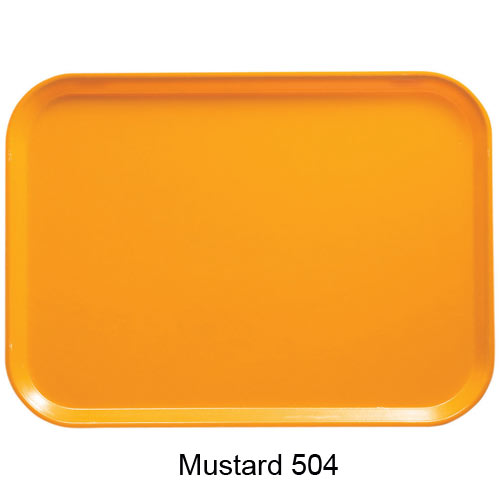 "Cambro Low Profile Rectangular Camtray - 4 1/4"" x 6"" Mustard 46504"