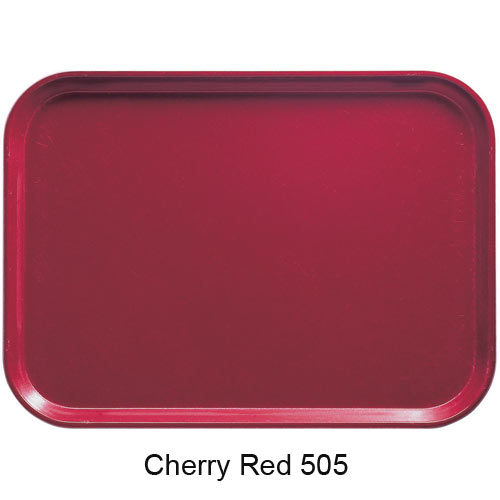 "Cambro Oval Camtray - 19 1/4"" x 24"" Cherry Red 2500505 2"