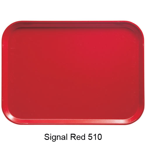 "Cambro Low Profile Rectangular Camtray - 8"" x 9 7/8"" Signal Red 810510"