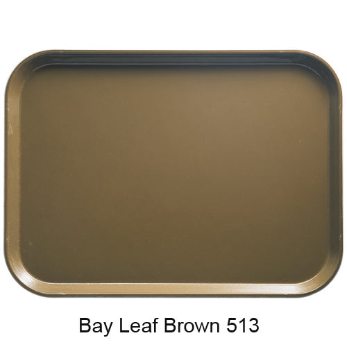 "Cambro Dietary Tray - 12"" x 16"" Bayleaf Brown 1216D513 2"