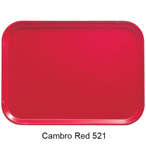 "Cambro Oval Camtray - 19 1/4"" x 24"" Cambro Red 2500521 2"