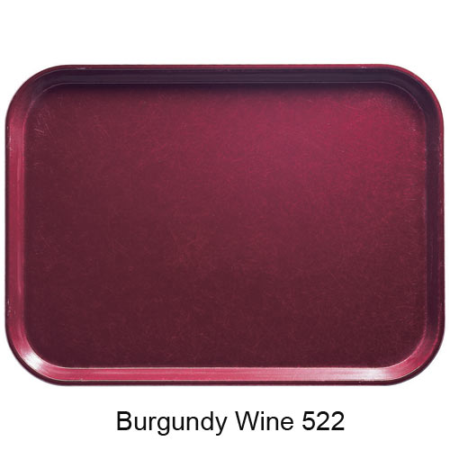 "Cambro Round Camtray - 12"" Burgundy Wine 1200522 2"