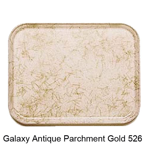 "Cambro Rectangular Camtray - 10 5/8"" x 13 3/4"" Galaxy Antique Parchment Gold 1014526"