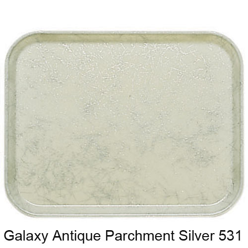 "Cambro Low Profile Rim Round Camtray - 19 1/2"" Galaxy Antique Parchment Silver 1950531 2"