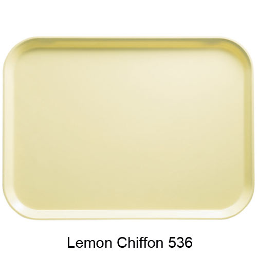"Cambro Dietary Tray - 12"" x 22"" Lemon Chiffon 1222D536 2"