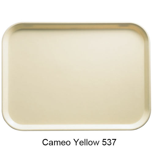 "Cambro Round Camtray - 11"" Cameo Yellow 1100537 2"