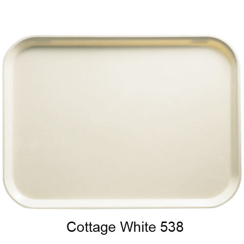 "Cambro Rectangular Camtray - 10 5/8"" x 13 3/4"" Cottage White 1014538"