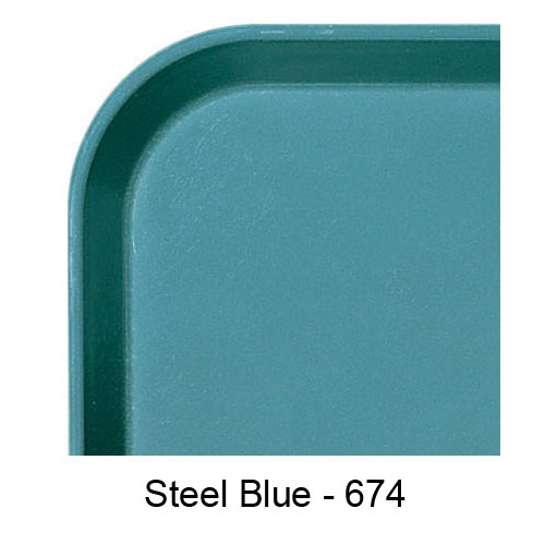 "Cambro Rectangular Camlite Tray - 12 3/4"" x 20 7/8"" Steel Blue 3253CL674 2"
