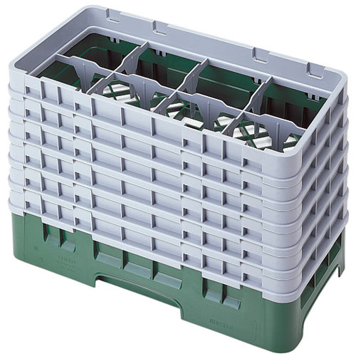 "Cambro Half Size Camrack Glass Rack - 8 Compartment - 11 3/4"" H 8HS1114"