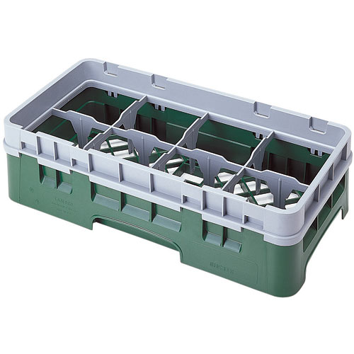 "Cambro Half Size Camrack Glass Rack - 8 Compartment - 3 5/8"" H 8HS318"