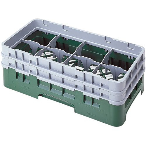 """Cambro Half Size Camrack Glass Rack - 8 Compartment - 5 1/4"""" H 8HS434"""