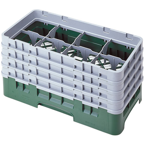 "Cambro Half Size Camrack Glass Rack - 8 Compartment - 8 1/2"" H 8HS800"