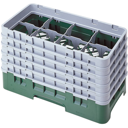 "Cambro Half Size Camrack Glass Rack - 8 Compartment - 10 1/8"" H 8HS958"