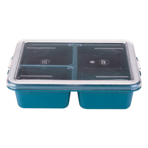 Cambro Camwear Meal Delivery 3 Compartment Tray -  Teal 9113CW414