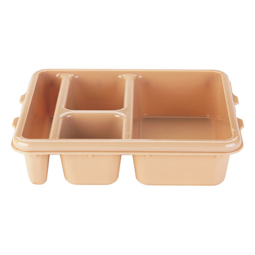 Cambro Co-Polymer Meal Delivery 4 Compartment Tray -  Brown 9114CP167