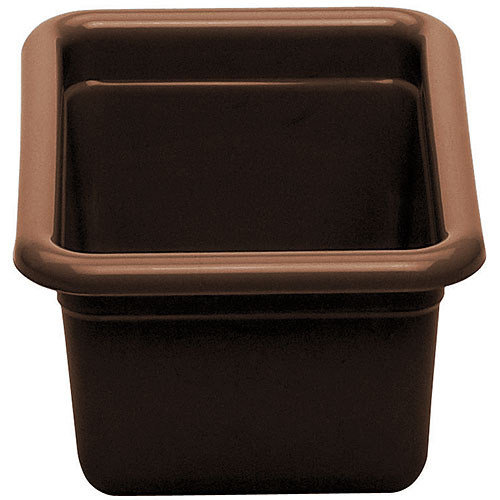 "Cambro Poly Cambox® 5"" Small Utility Box- Dark Brown 912CBP131"