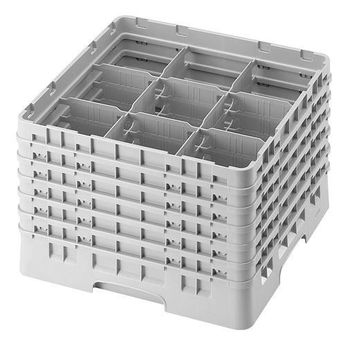 "Cambro Full Size Camrack Glass Rack - 9 Compartment - 11 3/4"" H 9S1114"