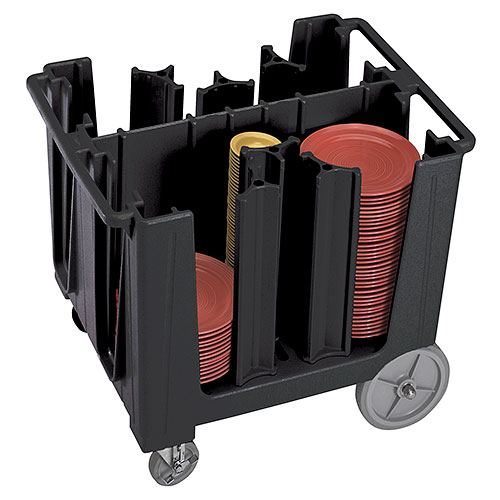 Cambro S-Series Adjustable Dish Caddy - Black ADCS110