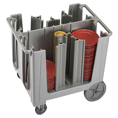Cambro S-Series Adjustable Dish Caddy - Speckled Gray ADCS480