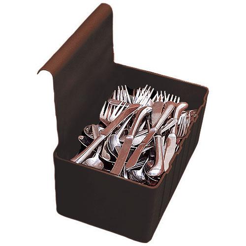 Cambro 1.75 Gallon Silverware Holder - Dark Brown BC1115SH131
