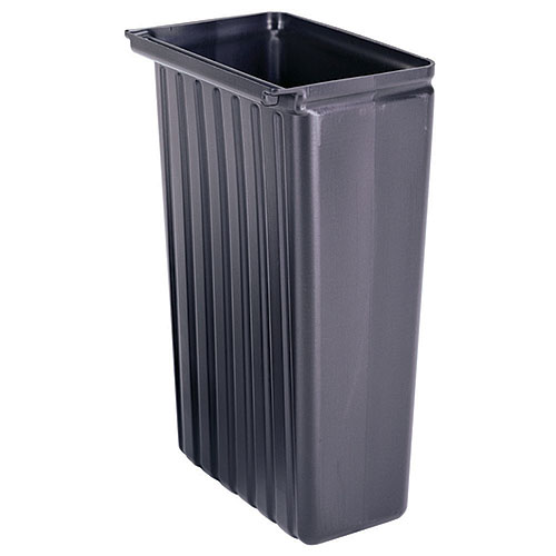 Cambro 11 Gallon Trash Container - Black BC11TC110