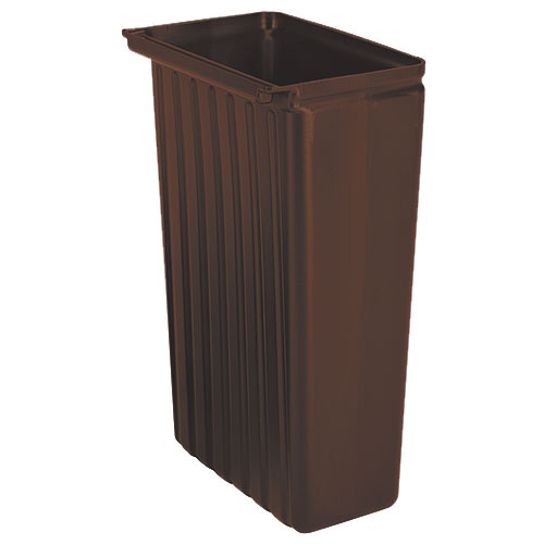 Cambro 11 Gallon Trash Container - Dark Brown BC11TC131