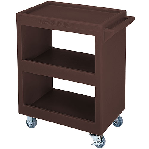 Cambro Open Service Cart - 350 lbs, Dark Brown, 2 fixed, 2 swivel Casters BC225131
