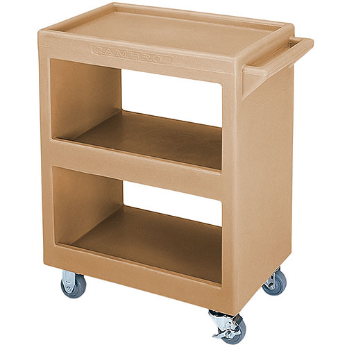 Cambro Open Service Cart - 350 lbs, Coffee Beige, 2 fixed, 2 swivel Casters BC225157
