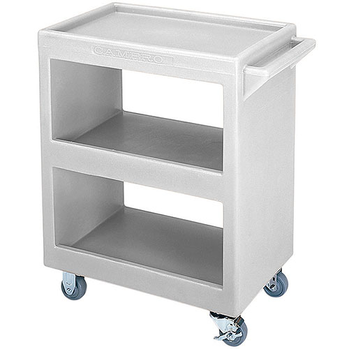 Cambro Open Service Cart - 350 lbs, Gray, 2 fixed, 2 swivel Casters BC225180