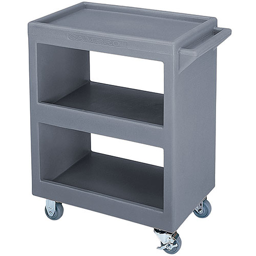 Cambro Open Service Cart - 350 lbs, Granite Gray, 2 fixed, 2 swivel Casters BC225191