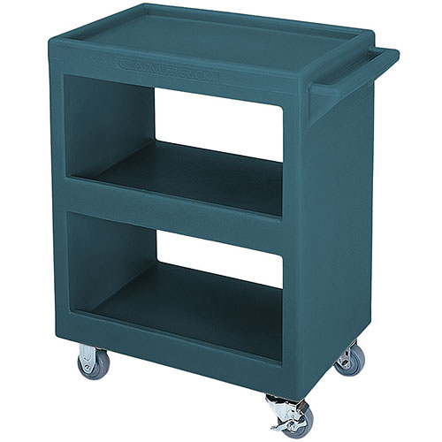 Cambro Open Service Cart - 350 lbs, Granite Green, 2 fixed, 2 swivel Casters BC225192