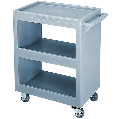 Cambro Open Service Cart - 350 lbs, Slate Blue, 2 fixed, 2 swivel Casters BC225401