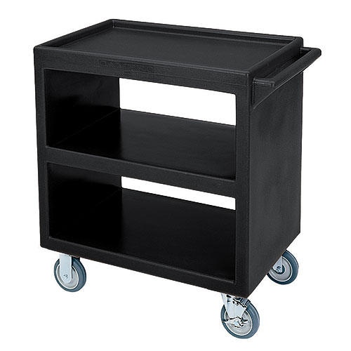Cambro Open Service Cart - 500 lbs, Black, 2 fixed, 2 swivel Casters BC230110