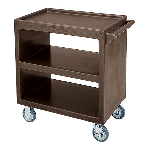 Cambro Open Service Cart - 500 lbs, Dark Brown, 2 fixed, 2 swivel Casters BC230131