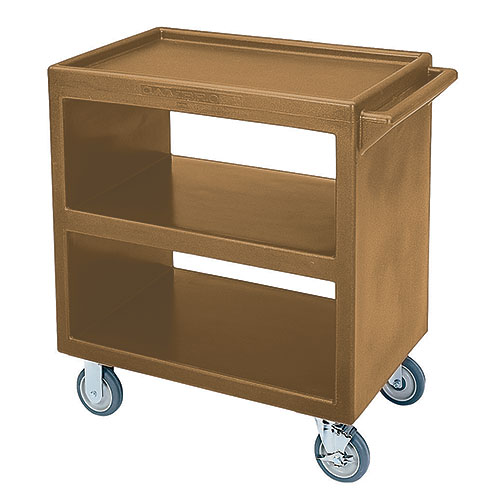 Cambro Open Service Cart - 500 lbs, Coffee Beige, 2 fixed, 2 swivel Casters BC230157