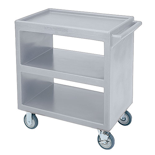 Cambro Open Service Cart - 500 lbs, Gray, 2 fixed, 2 swivel Casters BC230180