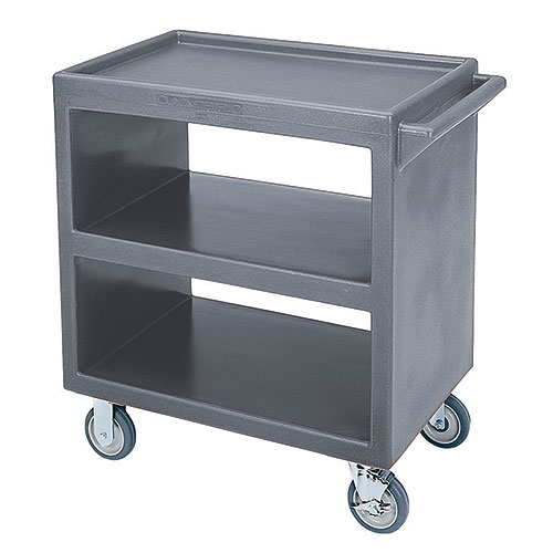 Cambro Open Service Cart - 500 lbs, Granite Gray, 4 swivel Casters BC2304S191