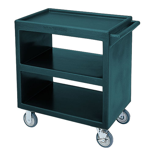 Cambro Open Service Cart - 500 lbs, Granite Green, 2 fixed, 2 swivel Casters BC230192