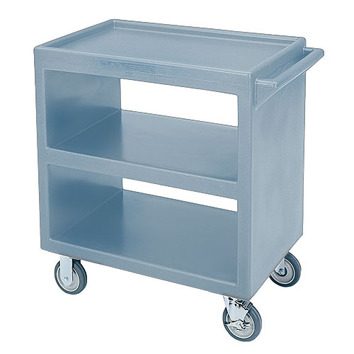 Cambro Open Service Cart - 500 lbs, Slate Blue, 2 fixed, 2 swivel Casters BC230401