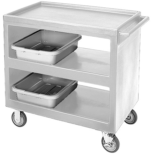 "Cambro Open Service Cart - 33 1/4"", 500 lbs, Gray, 2 fixed, 2 swivel Casters BC235180"
