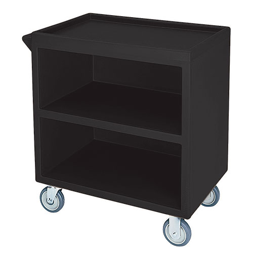 Cambro Enclosed Service Cart - 500 lbs, Black, 2 fixed, 2 swivel Casters BC330110