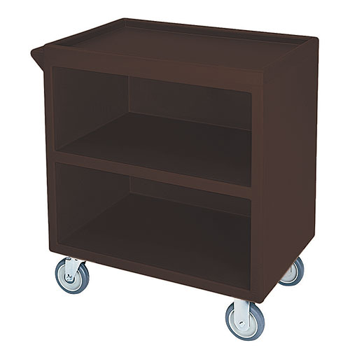 Cambro Enclosed Service Cart - 500 lbs, Dark Brown, 2 fixed, 2 swivel Casters BC330131