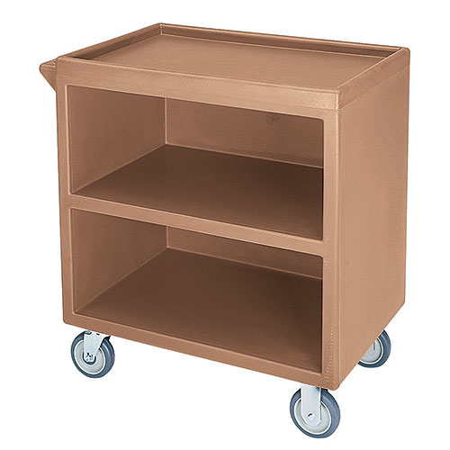 Cambro Enclosed Service Cart - 500 lbs, Coffee Beige, 2 fixed, 2 swivel Casters BC330157