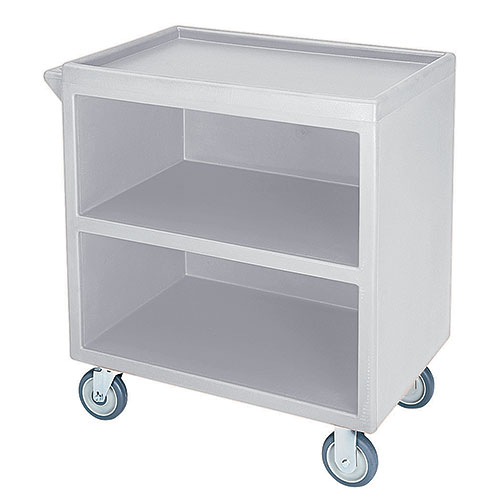 Cambro Enclosed Service Cart - 500 lbs, Gray, 2 fixed, 2 swivel Casters BC330180