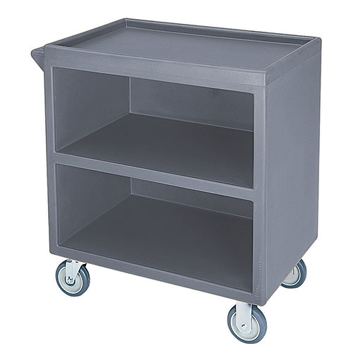 Cambro Enclosed Service Cart - 500 lbs, Granite Gray, 2 fixed, 2 swivel Casters BC330191